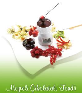 Meyveli Çikolatalı Fondü