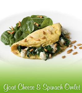 Goat Cheese & Spinach Omlet