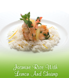 Jasmine Rice With Lemon And Shrimp