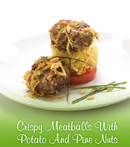 Crispy Meatballs With Potato And Pine Nuts