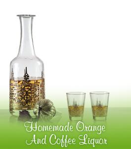 Homemade Orange And Coffee Liquor